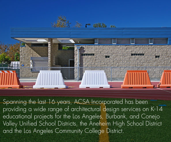ACSA Inc. provides a wide range of architectural design service for k through 14 educational projects.